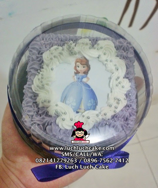 Mini Cake Souvenir Ulang Tahun Sofia The First