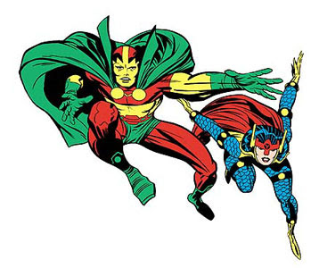 Mr. Miracle and Big Barda from DC Comics