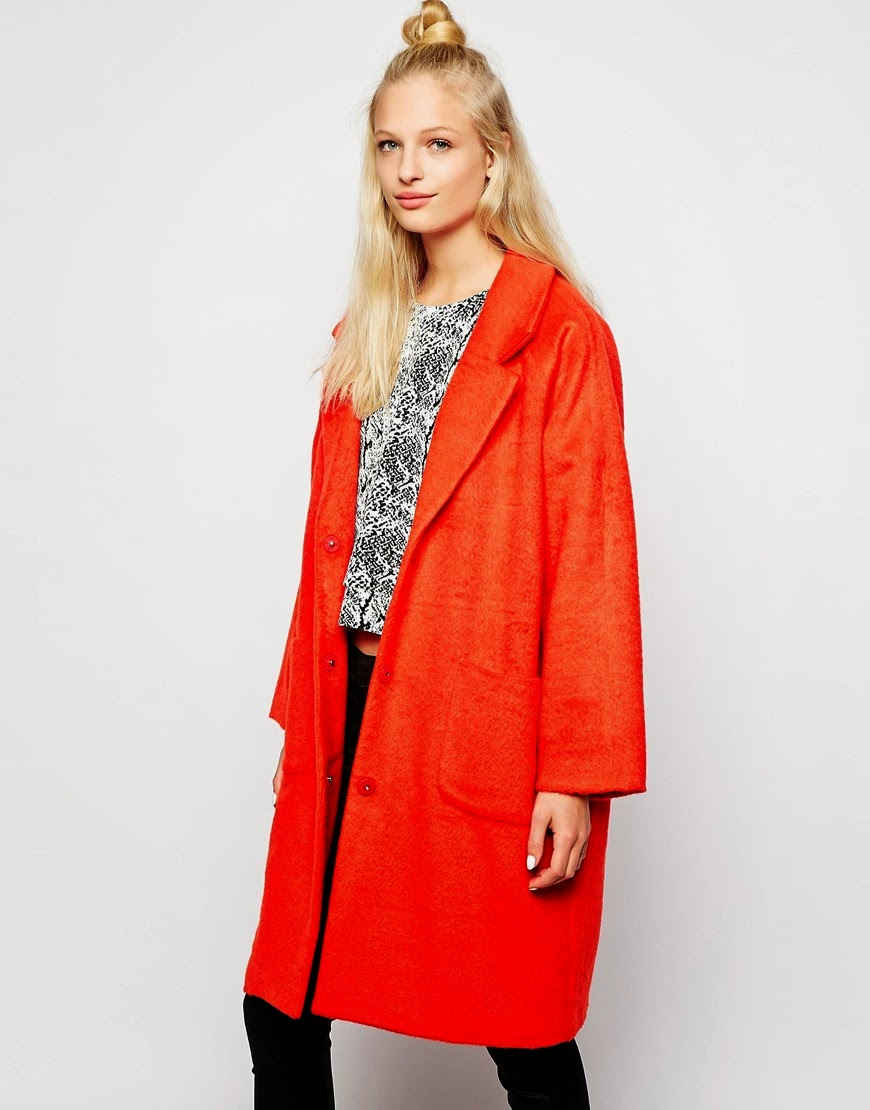 monki red coat