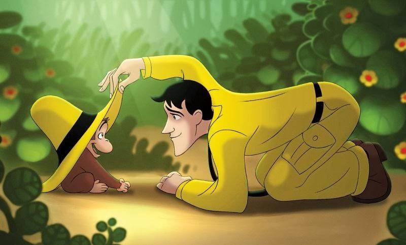 gambar curious george simonyet pintar dan pria bertopi kuning