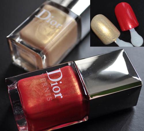 Златен и червен лак за нокти Dior Les Rouges OR