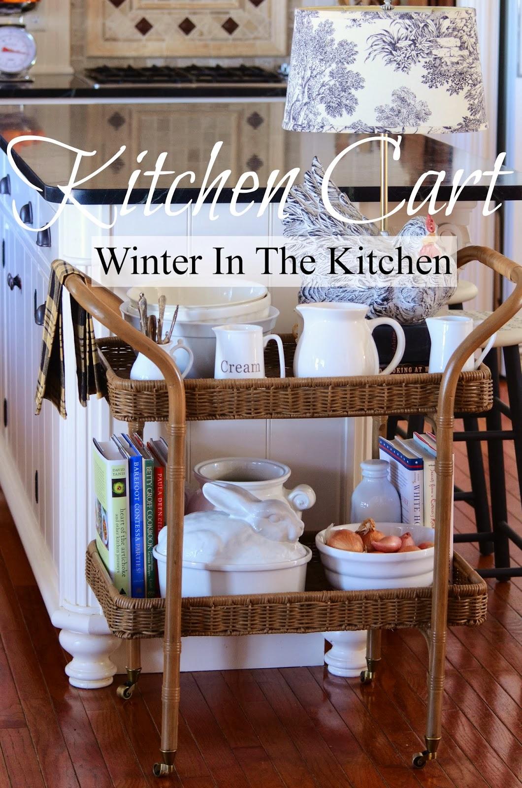 Kitchen cart winter in the kitchen interior design for Interior design kitchen trolley