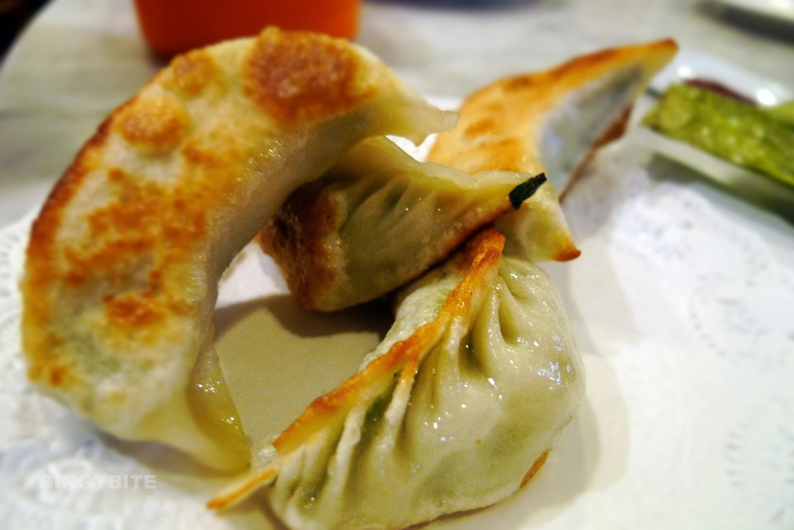 pan-fried chives and meat dumpling