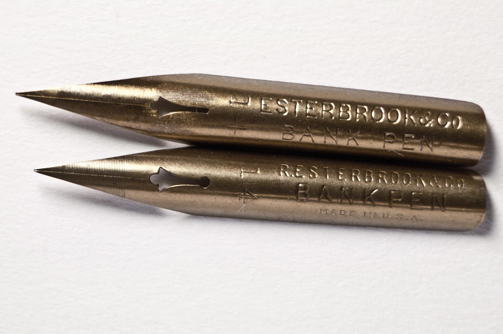 Nib gurus vintage dip pen discussion radio pen 914 why is it so here is what a modern 14 bank pen from 1946 looks like in comparison to the 1876 version you can see the older version is longer than the newer version altavistaventures Images