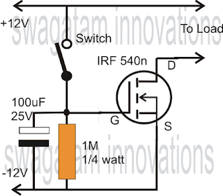 1 5v Powered Led Flasher Electronic further 20   Samlex Power Supply Schematic also Simple Mosfet Switch Circuit With Delay additionally Simple Am Transmitter besides 40hfr100 Ir Rectifier Diode Stud. on homemade how to charge a capacitor