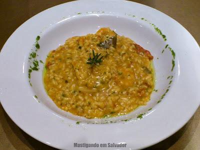 Restaurante Couvert: Risotto de Crevettes (Risoto de Camarão)