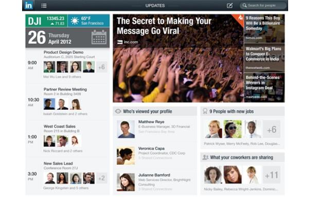 Aplikasi LinkedIn untuk iPad