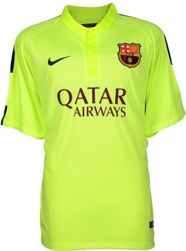 Neymar Santos Autographed Barcelona FC Alternate Green Jersey