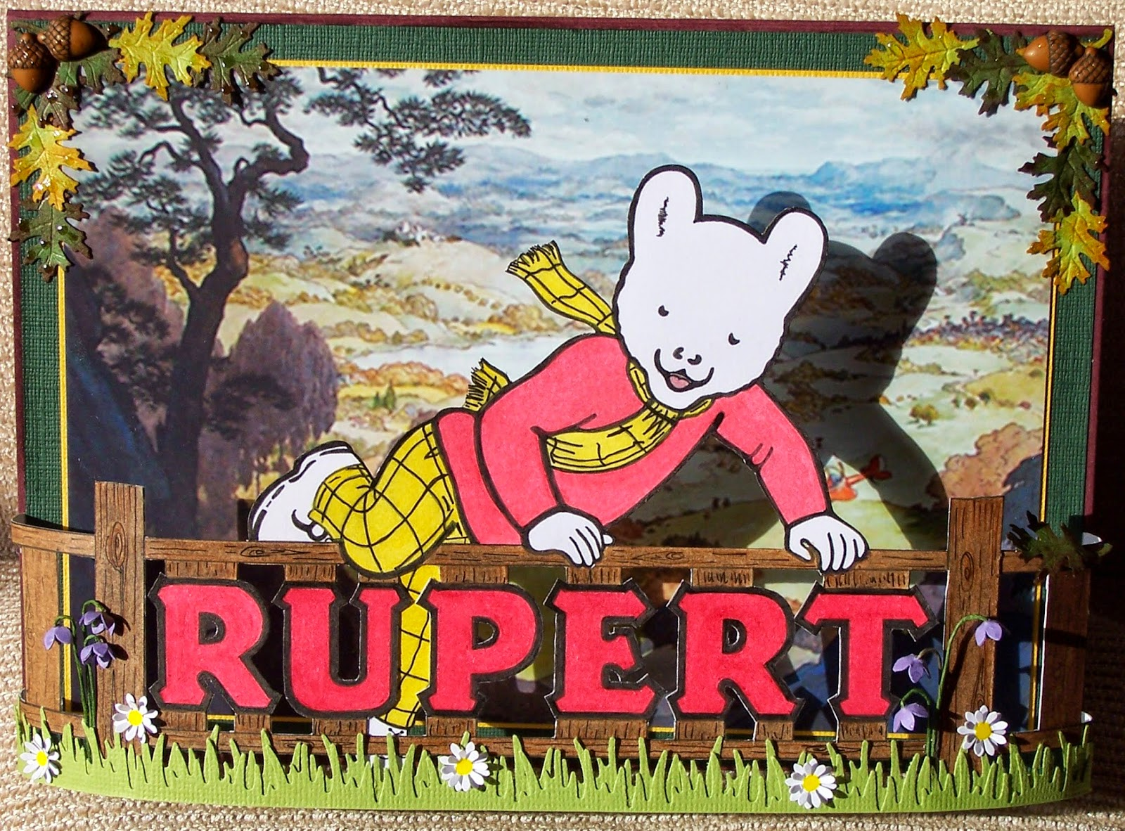Whitch craft rupert the bear 75th birthday card for my dad 75th birthday card for my dad today my dad is 75 years young and of course we had to celebrate it with rupert a childhood favourite and still is bookmarktalkfo Choice Image