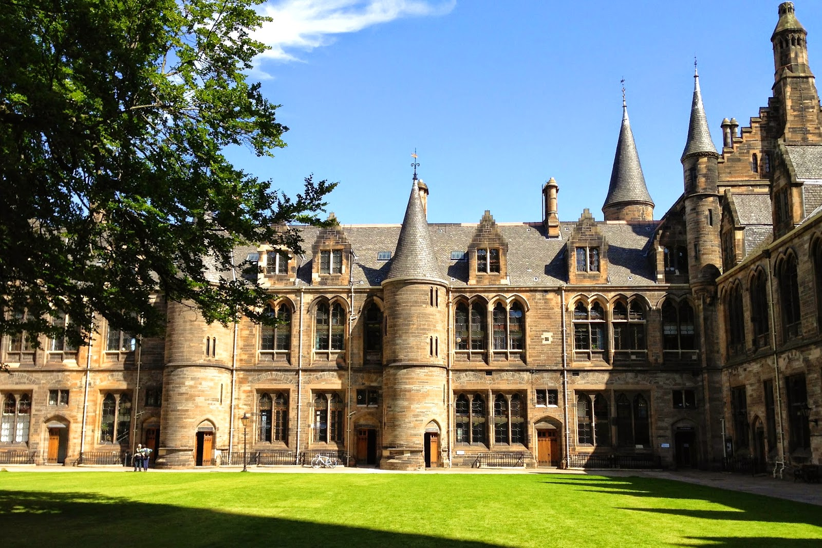 Quad on main campus of University of Glasgow
