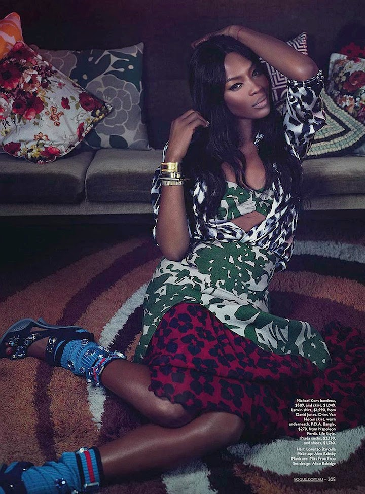 NAOMI CAMPBELL BY EMMA SUMMERTON FOR VOGUE AUSTRALIA MAY 2014