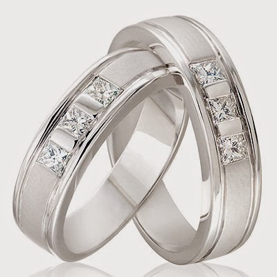cincin kawin emas putih dan perak unik