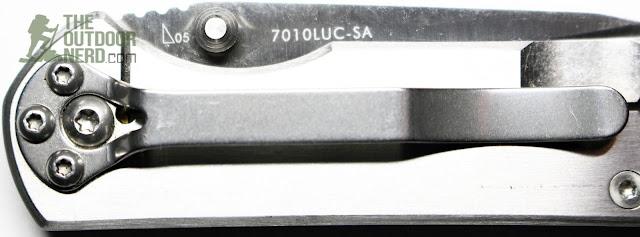 Sanrenmu 7010 EDC Pocket Knife - Closeup of Clip