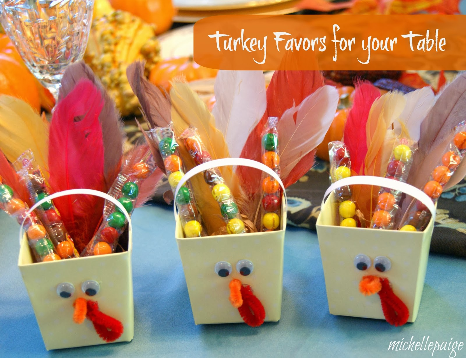 Michelle paige s candy turkey favors for your table