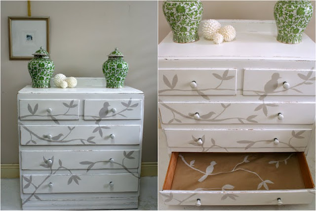 Painted furniture Sydney Bird Chest of Drawers