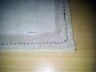 Aperçu des points de coutures réalisés à la main en utilisant le point sellier