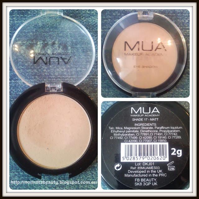 MUA Eyeshadow Shade 17 Matt