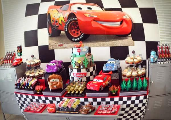 tema festa menino infantil aniversário carros