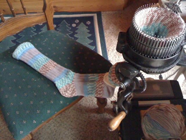 crank sock knitting machine