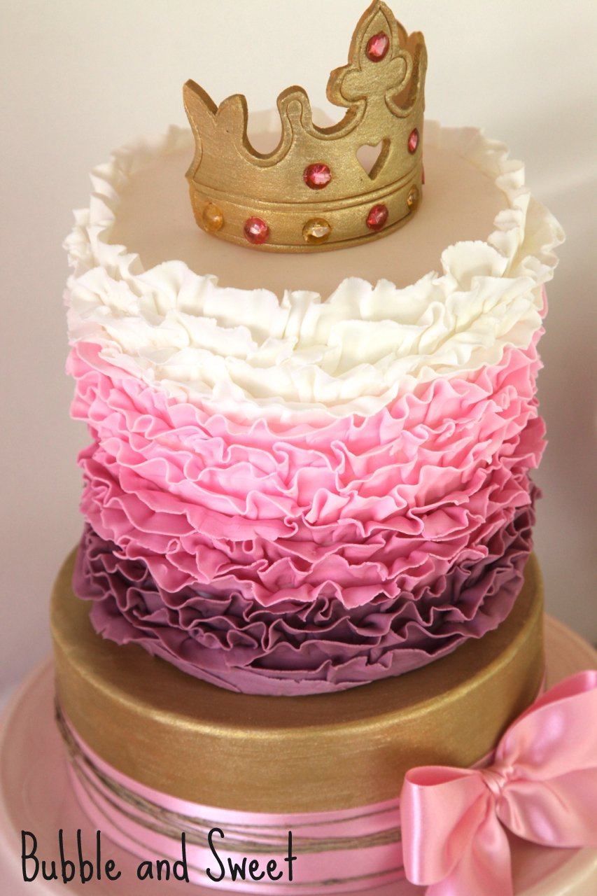 Pink Princess Cakes with Ruffles 853 x 1280 · 150 kB · jpeg