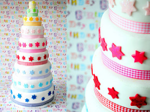 Nine tier star cake by Torie Jayne