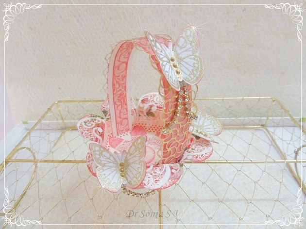 Handmade Basket Tutorial : Cards crafts kids projects handmade paper basket tutorial