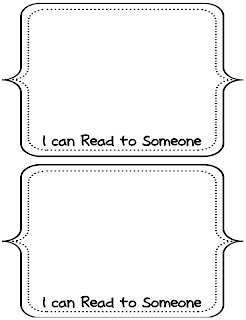 I Can Read to Someone Picture Task Cards
