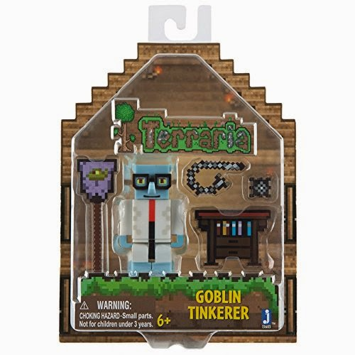 JUGUETES - TERRARIA  Goblin Tinkerer | Figura - Muñeco | Serie 1  Producto Oficial Videojuego | A partir de 6 años