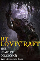 Book cover to H. P. Lovecraft: The Complete Collection with Accompanying Facts from Red Skull Publishing