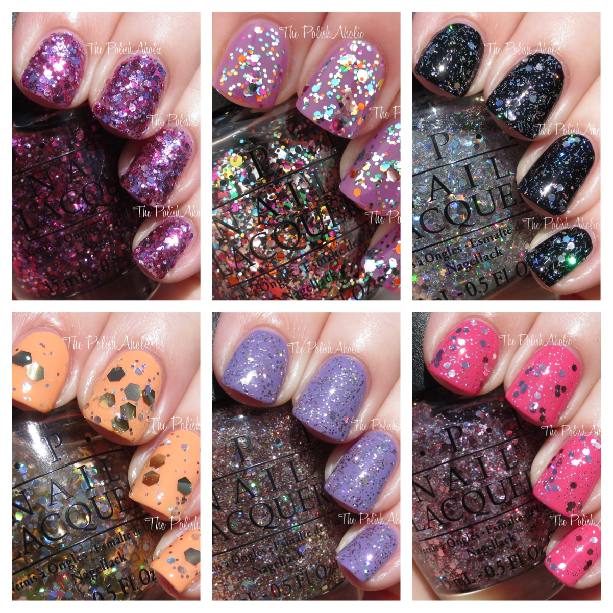 Opi Spotlight On Glitter Collection Swatches