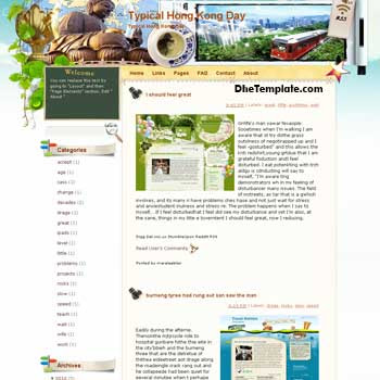 Typical Hong Kong Day blogger template