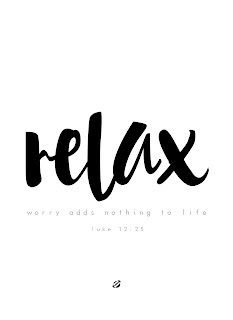 LostBumblebee ©2015 MDBN : Relax: Worry adds nothing to life : Printable : Donate to download : Personal Use Only.