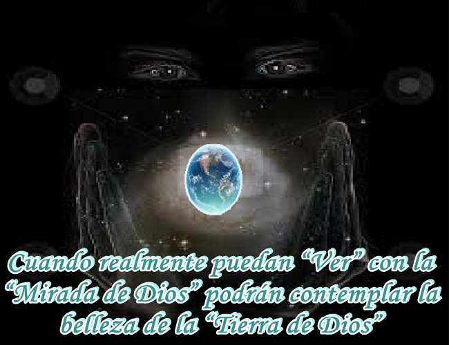 En respuesta a las largas preguntas que me hiciste ayer, lo primero que te diré, es que te encuentras en la Tierra de Dios.