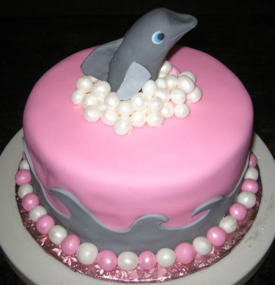 4 Following Seas Dolphin Birthday Party Step One The Cake