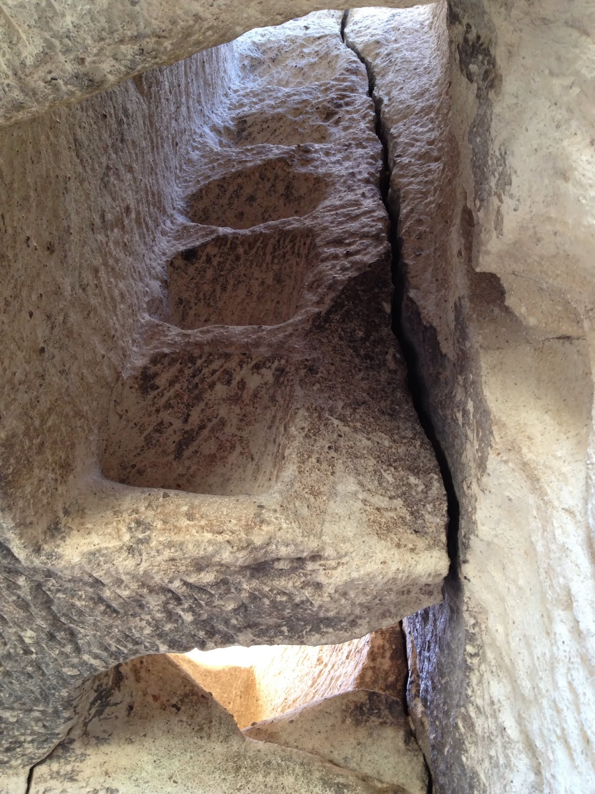 Cappadocia - Imagine climbing up these stairs! No thank you.
