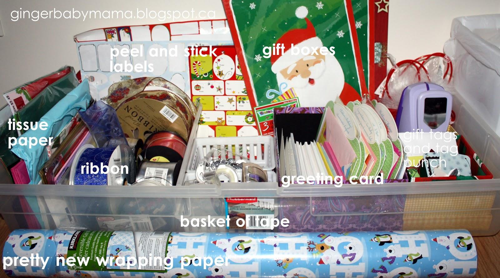 GingerBabyMamaGift Wrap Storage and Organization