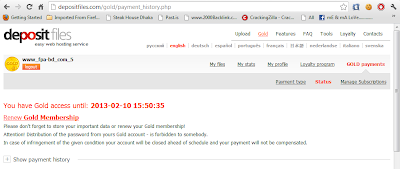Depositfiles Premium Account 23 september 2012  With Proof