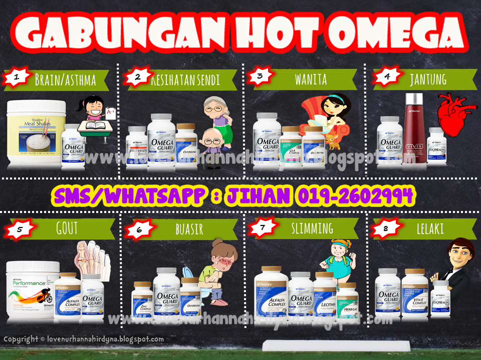 set gabungan omega guard shaklee
