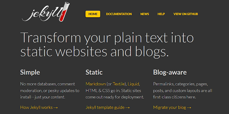 Blog-aware static site platform