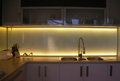 Glass Backsplash Kitchen