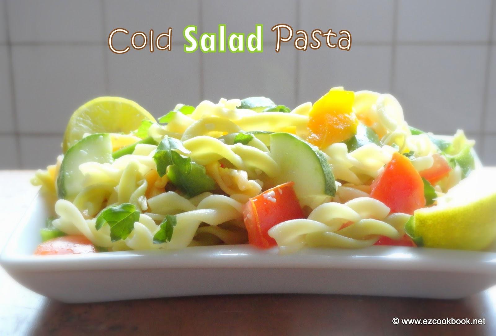 Cold Pasta Salad Easy Summer Recipes Ezcookbook