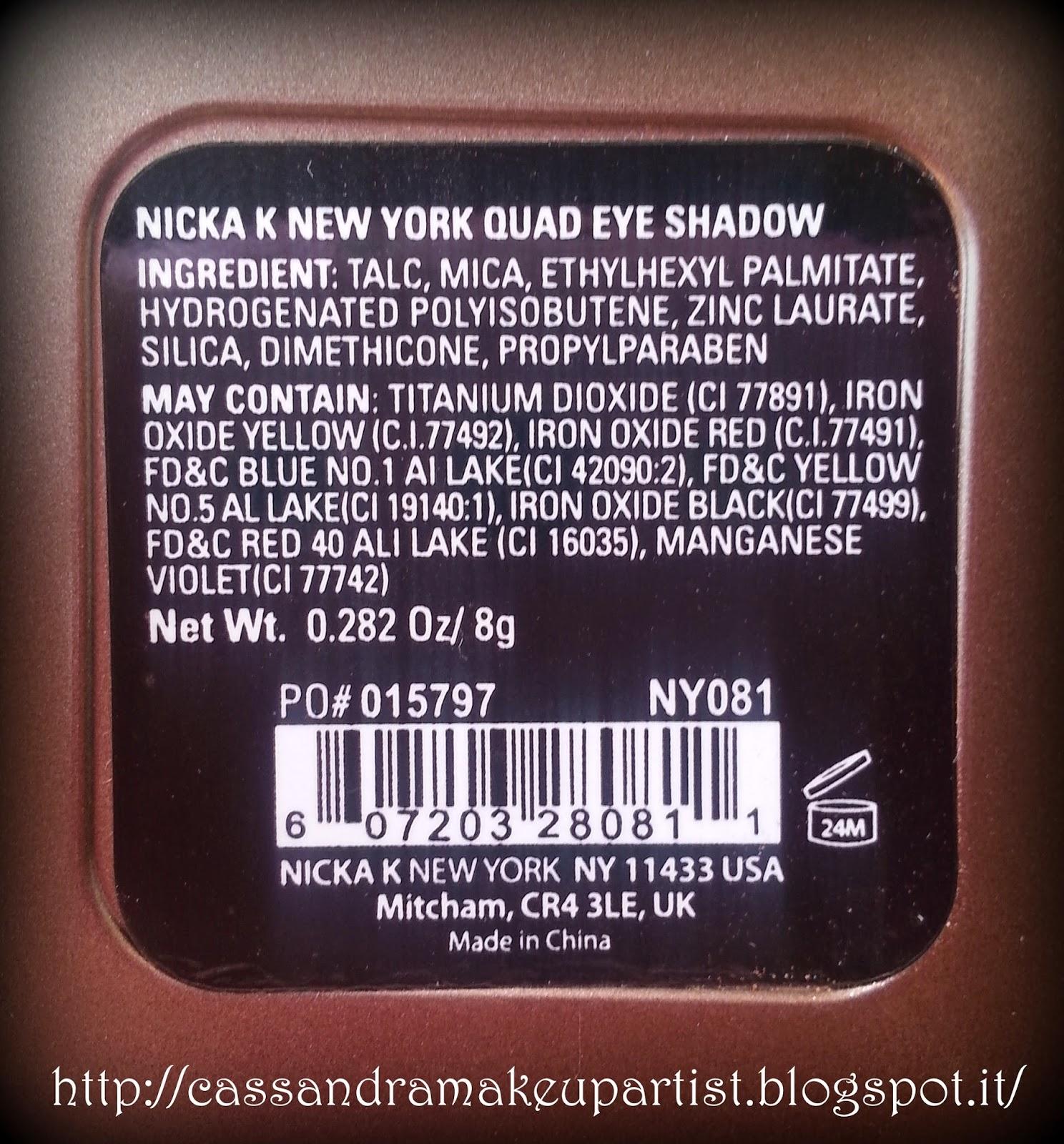 NICKA K New York - blogger tester - review - recensione - smalto nail laquer lip color maxi satin primer - prezzi - swatch inci