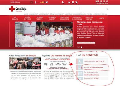 Cruz Roja: Malas prácticas en usabilidad web