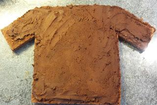 maillot couvert de ganache au chocolat