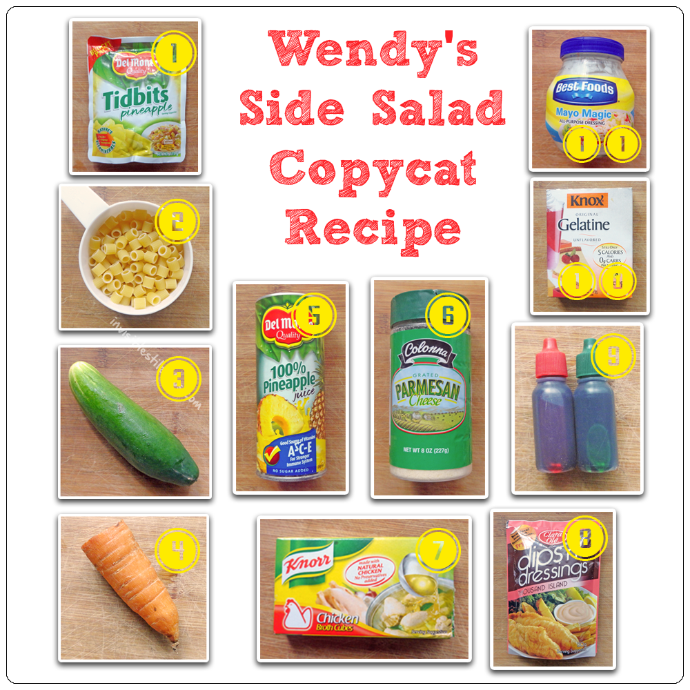 Wendy's Side Salad Copycat Recipe