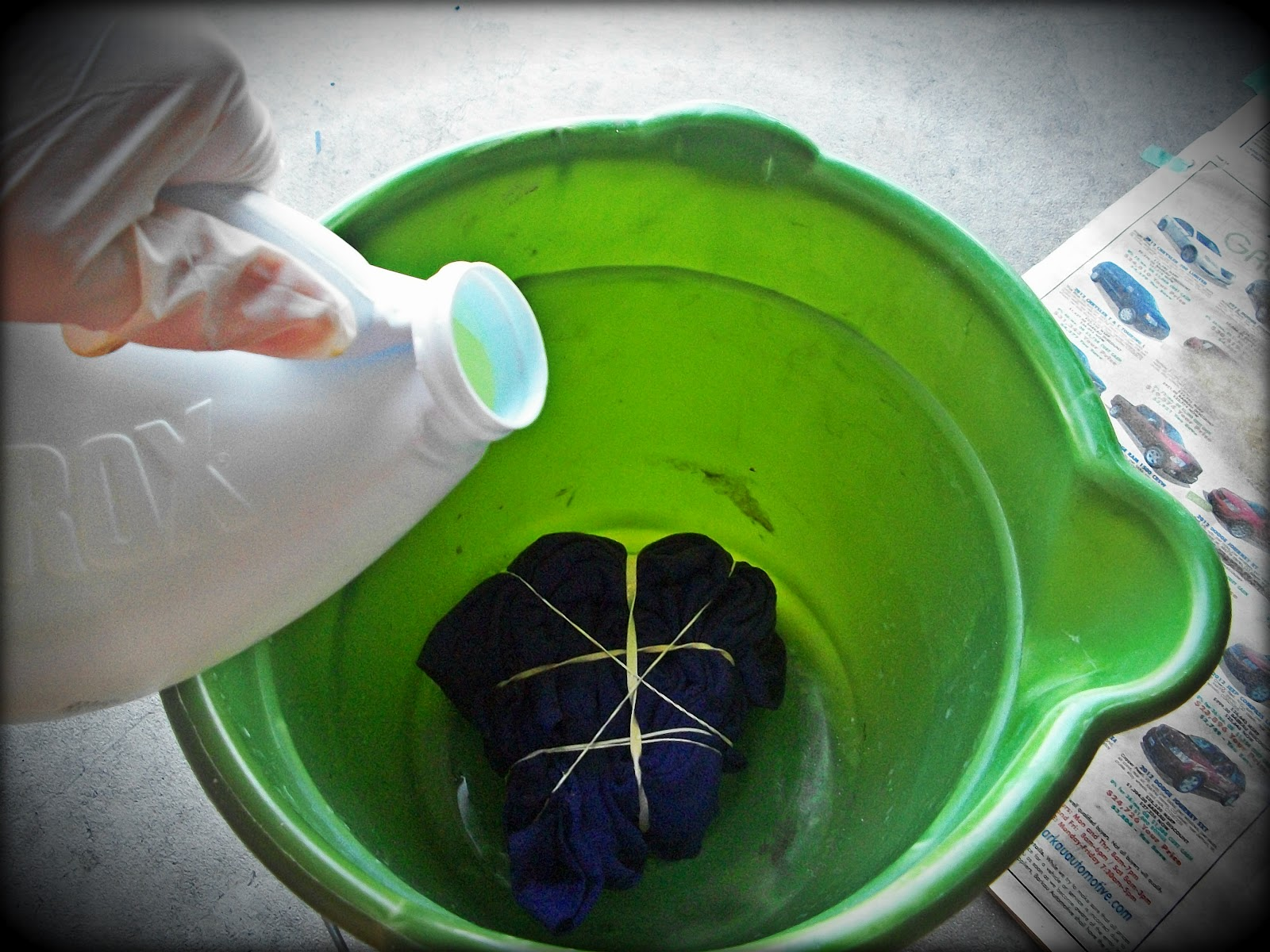 Halfway to hipster tie dying with bleach for How do you dye a shirt