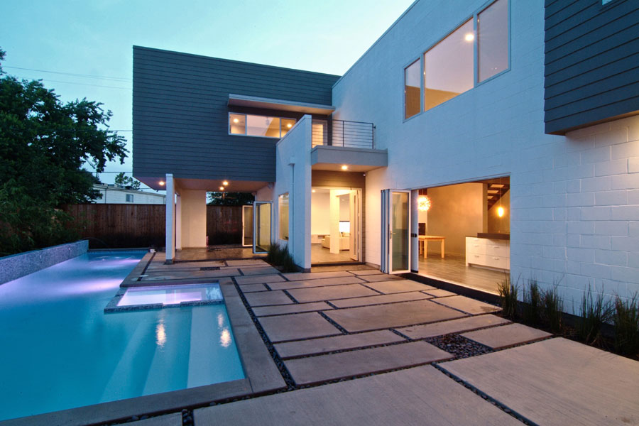Neocribs texan modern homes drake house houston for Modern houses in houston