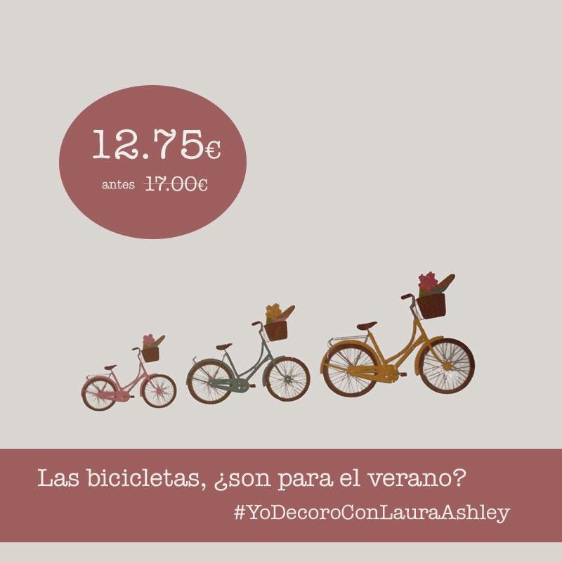 Vinilo bicicletas Laura Ashley Decoración