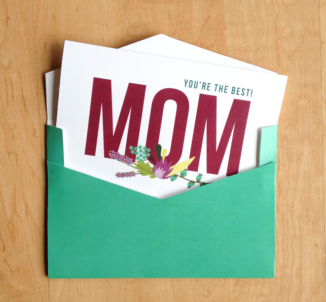 mother day card + envelope