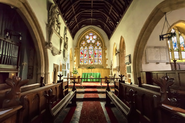 Interior of St Mary's church at Shipton under Wychwood by Martyn Ferry Photography